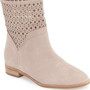 Michael Kors Sunny Suede Cut Out Ankle Boots